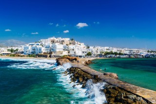 location panorama naxos town